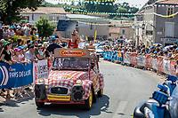 Publictiy caravan at the start of  Stage 2: Mouilleron-Saint-Germain > La Roche-sur-Yon (183km)<br /> <br /> Le Grand Départ 2018<br /> 105th Tour de France 2018<br /> ©kramon