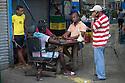 18/02/16 <br /> <br /> Men play dominoes at Panama City fish market, Panama.<br /> <br /> All Rights Reserved: F Stop Press Ltd. +44(0)1335 418365   +44 (0)7765 242650 www.fstoppress.com
