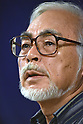 Japanese animated film director Hayao Miyazaki attends press conference in Tokyo