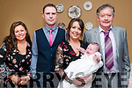 BabyBaby Sophie O'Shea  with her parents John & Marie O'Shea, Kilflynn and god parents Bridget McCarthy & Patrick Duggan who was christened in St. Mary's Church, Lixnaw on Saturday last and afterwards at the Listowel Atms Hotel.