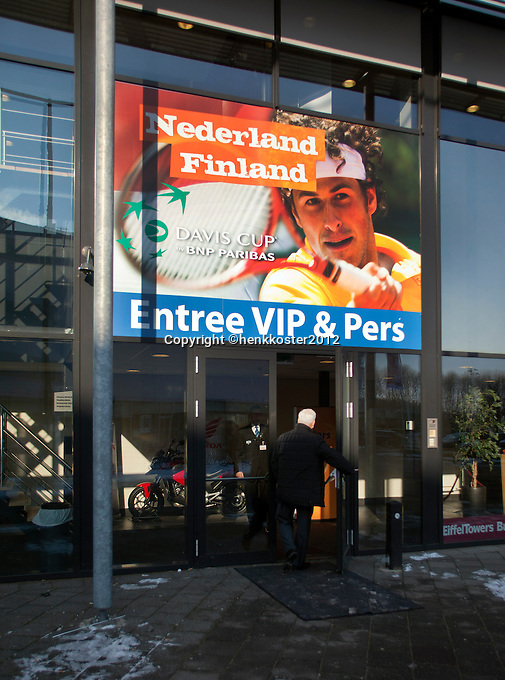 10-02-12, Netherlands,Tennis, Den Bosch, Daviscup Netherlands-Finland, Entree