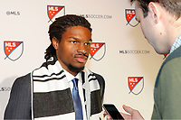 Philadelphia, PA - Thursday January 19, 2018: Carter Manley during the 2018 MLS SuperDraft at the Pennsylvania Convention Center.
