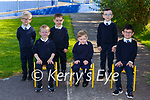 Junior Infants on their first day of school in Fybough NS Castlemaine on Tuesday front row l-r: James O'Byrne, Sean Joy, Sean Barton Back row: Evan O'Connell,  Jack Fleming and Ryan Griffin
