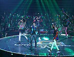 """B1A4, Jul 24, 2014 : South Korean boy band B1A4 perform at the 10th anniversary live special of weekly music chart show, """"M! Countdown"""" of Mnet in Goyang, north of Seoul, South Korea. (Photo by Lee Jae-Won/AFLO) (SOUTH KOREA)"""