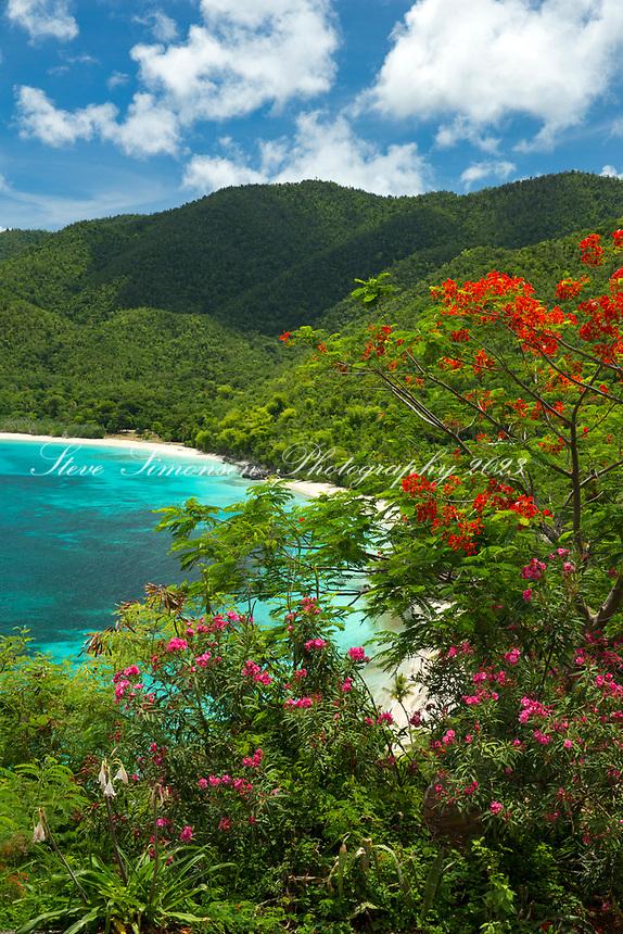 View of Cinnamon Bay<br /> St. John<br /> US Virgin Islands