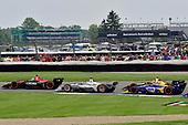 Robert Wickens, Schmidt Peterson Motorsports Honda, Josef Newgarden, Team Penske Chevrolet, Alexander Rossi, Andretti Autosport Honda