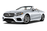 Stock pictures of low aggressive front three quarter view of a 2018 Mercedes Benz E Class E400 2 Door Convertible