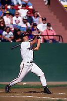SAN JOSE, CA - Adam Hyzdu of the San Jose Giants bats during a game at Municipal Stadium in San Jose, California in 1992. (Photo by Brad Mangin)