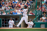 Rochester Red Wings LaMonte Wade Jr (4) at bat during an International League game against the Scranton/Wilkes-Barre RailRiders on June 24, 2019 at Frontier Field in Rochester, New York.  Rochester defeated Scranton 8-6.  (Mike Janes/Four Seam Images)