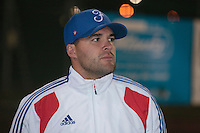 21 August 2010: Vincent Ferreira is seen after Russia 13-1 win in 7 innings over France, at the 2010 European Championship, under 21, in Brno, Czech Republic.