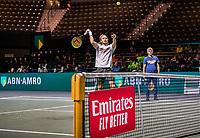 Rotterdam, The Netherlands, 9 Februari 2020, ABNAMRO World Tennis Tournament, Ahoy, Qualyfying round: Stefanos Tsitsipas (GRC) with his father<br /> Photo: www.tennisimages.com