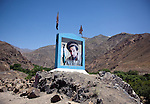 11 June 2013, Rukha Hospital, Panjshir, Panjshir Provnce, Afghanistan.    A picture of Afghan freedom fighter Ahmad Shah Massoud on the road from Kabul to Panjshir. Picture by Graham Crouch/World Bank.