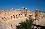 Jordan, Jerash. The Cardo, or the colonnaded street&#xA;<br />