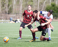 The Winthrop University Eagles played the UNC Wilmington Seahawks in The Manchester Cup on April 5, 2014.  The Seahawks won 1-0.  Jack Ward (9), Patrick Barnes (11), Adriano Negri (17)