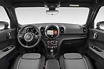 Stock photo of straight dashboard view of 2021 MINI Countryman Cooper-Northwood 5 Door SUV Dashboard