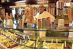 World Champion ice cream shop in the walled town of San Gimignano start point of the 2015 Strade Bianche Eroica Pro cycle race running 200km over the white gravel roads from San Gimignano to Siena, Tuscany, Italy. 6th March 2015<br /> Photo: Eoin Clarke www.newsfile.ie