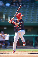 Peoria Chiefs left fielder Dylan Tice (43) at bat during the second game of a doubleheader against the South Bend Cubs on July 25, 2016 at Four Winds Field in South Bend, Indiana.  South Bend defeated Peoria 9-2.  (Mike Janes/Four Seam Images)
