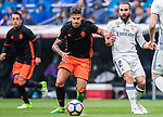 Santiago Mina Lorenzo, Santi Mina (l), of Valencia CF in action during their La Liga match between Real Madrid and Valencia CF at the Santiago Bernabeu Stadium on 29 April 2017 in Madrid, Spain. Photo by Diego Gonzalez Souto / Power Sport Images