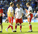 30/05/2009  Copyright  Pic : James Stewart.sct_jspa_22_rangers_v_falkirk.FALKIRK'S STEPHEN PRESSLEY, MARK STEWART AND DARREN BARR ARE DEJECTED AT THE END OF THE GAME.James Stewart Photography 19 Carronlea Drive, Falkirk. FK2 8DN      Vat Reg No. 607 6932 25.Telephone      : +44 (0)1324 570291 .Mobile              : +44 (0)7721 416997.E-mail  :  jim@jspa.co.uk.If you require further information then contact Jim Stewart on any of the numbers above.........
