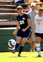 2 September 2007: George Washington University Colonials' Meg Pyle, a Junior from Franklin Park, NJ, in action against the University of Vermont Catamounts at Historic Centennial Field in Burlington, Vermont. The Colonials rallied to defeat the Catamounts 2-1 in overtime during the TD Banknorth Soccer Classic...Mandatory Photo Credit: Ed Wolfstein Photo