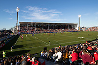 A general view of the 2020 Super Rugby match between the Crusaders and Highlanders at Orangetheory Stadium in Christchurch, New Zealand on Saturday, 9 August 2020. Photo: Joe Johnson / lintottphoto.co.nz