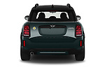 Straight rear view of 2021 MINI Countryman SE-PHEV 5 Door SUV Rear View  stock images