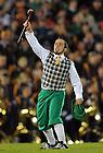 Oct. 22, 2011; The Leprechaun cheers during the USC game, 2011...Photo by Matt Cashore/University of Notre Dame