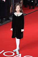 """Indica Watson<br /> arriving for the """"Radioactive"""" premiere at the Curzon Mayfair, London.<br /> <br /> ©Ash Knotek  D3560 07/03/2020"""