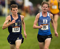 9/28/18 - Photography of the Navy Men's XC team racing in at the Roy Griak Invitational, Saturday afternoon September 28, 2018, as the Les Bolstad Golf Course in Falcon Heights, Minnesota.<br /> <br /> Charlotte Photographer - PatrickSchneiderPhoto.com