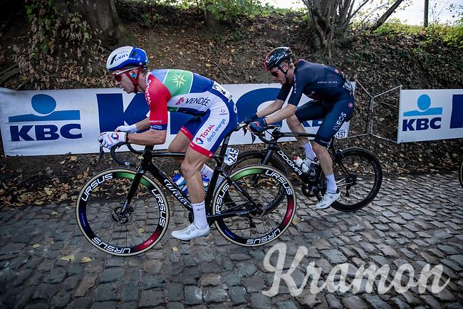 Anthony Turgis (FRA/Total - Direct Energie) up the Koppenberg<br /> <br /> 104th Ronde van Vlaanderen 2020 (1.UWT)<br /> 1 day race from Antwerpen to Oudenaarde (BEL/243km) <br /> <br /> ©kramon