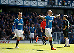 Nicky Law celebrates as he scores goal no 3 for Rangers
