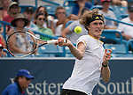 August 16,2017:   Alexander Zverev (GER) loses to Frances Tiafoe (USA) 4-6, 6-3, 6-4, at the Western & Southern Open being played at Lindner Family Tennis Center in Mason, Ohio.  ©Leslie Billman/Tennisclix/CSM