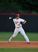 Lake Mary Rams second baseman Chris Ippolito (13) during a game against the Lake Brantley Patriots on April 2, 2015 at Allen Tuttle Field in Lake Mary, Florida.  Lake Brantley defeated Lake Mary 10-5.  (Mike Janes Photography)