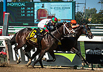 September 28, 2019: Imperial Hint, ridden by Javier Castellano, wins the 2019 running of the G1 Vosburgh S. at Belmont Park in Elmont, NY. Sophie Shore/ESW/CSM