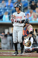 Wisconsin Timber Rattlers shortstop Orlando Arcia #2 during a game against the Quad Cities River Bandits on May 24, 2013 at Modern Woodmen Park in Davenport, Iowa.  Quad Cities defeated Wisconsin 4-3  (Mike Janes/Four Seam Images)