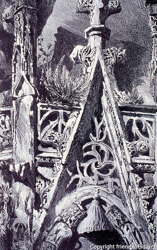 Louis Sullivan, Carson Pirie Scott building, Chicago. Detail, cast-iron ornamentation.