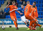 St Johnstone v Kilmarnock.....28.02.15<br /> Chris Kane forces his way between Mark O'Hara and Craig Slater<br /> Picture by Graeme Hart.<br /> Copyright Perthshire Picture Agency<br /> Tel: 01738 623350  Mobile: 07990 594431