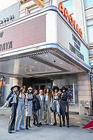 NOVA YORK, EUA, 09.09.2019 - MODA-NYFW - As Modelo  Winnie Harlow , Halima Aden, Designer Tommy Hilfiger e a atriz  Zendaya durante desfile  do New York Fashion Week no Teatro Apollo na cidade de Nova York neste domingo, 09. (Foto: Vanessa Carvalho/Brazil Photo Press)
