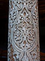 Holzsäule in der Juma Moschee , Xiva, Usbekistan, Asien, UNESCO-Weltkulturerbe<br /> Wooden pillar inside Juma Mosque, historic city Ichan Qala, Chiwa, Uzbekistan, Asia, UNESCO heritage site