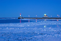 """Winter Twilight in Canal Park""<br />