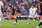 Real Madrid's Carlos Henrique Casemiro and Valencia CF's Fabian Orellana during La Liga match between Real Madrid and Valencia CF at Santiago Bernabeu Stadium in Madrid, April 29, 2017. Spain.<br /> (ALTERPHOTOS/BorjaB.Hojas)