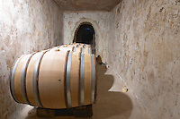 barrel aging cellar mas du notaire rhone france