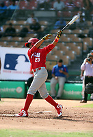 Eduardo Lopez participates in the MLB International Showcase at Estadio Quisqeya on February 22-23, 2017 in Santo Domingo, Dominican Republic.