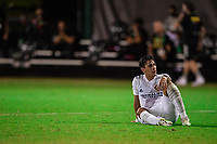 LAKE BUENA VISTA, FL - JULY 23: Cristian Pavon #10 of the LA Galaxy after the game during a game between Los Angeles Galaxy and Houston Dynamo at ESPN Wide World of Sports on July 23, 2020 in Lake Buena Vista, Florida.