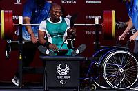 26th August 2021; Tokyo, Japan; Yakubu Adesokan (NGR), Powerlifting : Men's 49kg Final during the Tokyo 2020 Paralympic Games at the Tokyo International Forum in Tokyo, Japan.
