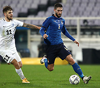 FBL- Friendly  football match Italy vs Estonia at the Artemio Franchi stadium in Florence on November 11, 2020.<br /> Italy's Roberto Gagliardini (l) in action with Estonia's Frank Livak (l) during the friendly football match between Italy snd Estonia at the Artemio Franchi stadium in Florence on November 11, 2020. <br /> UPDATE IMAGES PRESS/Isabella Bonotto