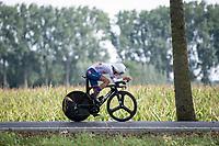 Finlay Pickering (GBR)<br /> <br /> Junior Men Individual Time Trial from Knokke-Heist to Bruges (22.3 km)<br /> <br /> UCI Road World Championships - Flanders Belgium 2021<br /> <br /> ©kramon