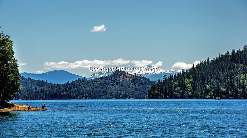From shore of Shasta Lake in Northern California.
