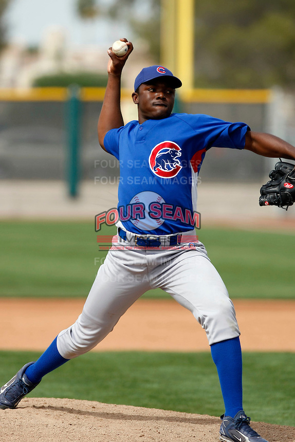 Rafael Dolis - Chicago Cubs - 2009 spring training.Photo by:  Bill Mitchell/Four Seam Images