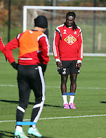 Pictured: Bafetimbi Gomis Wednesday 05 November 2014<br /> Re: Swansea City FC players training at Fairwood training ground, ahead of their Premier League game against Arsenal on Sunday.
